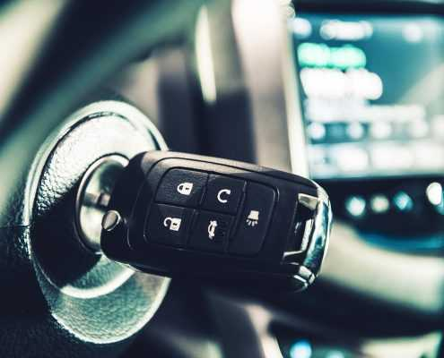 Key in vehicle's ignition
