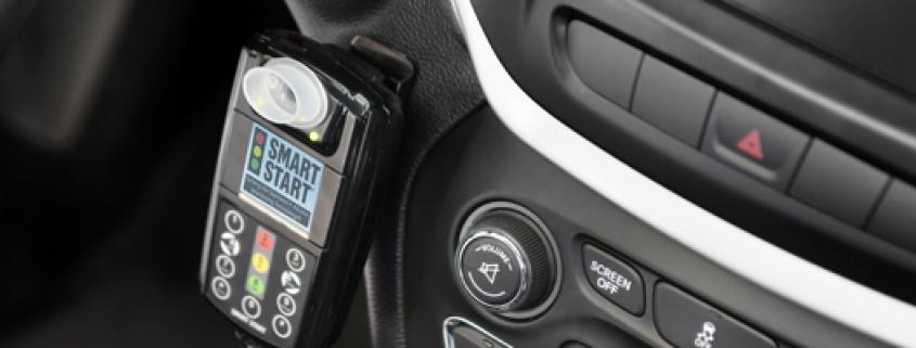 Smart Start Ignition Interlock Device mounted on vehicle dashboard