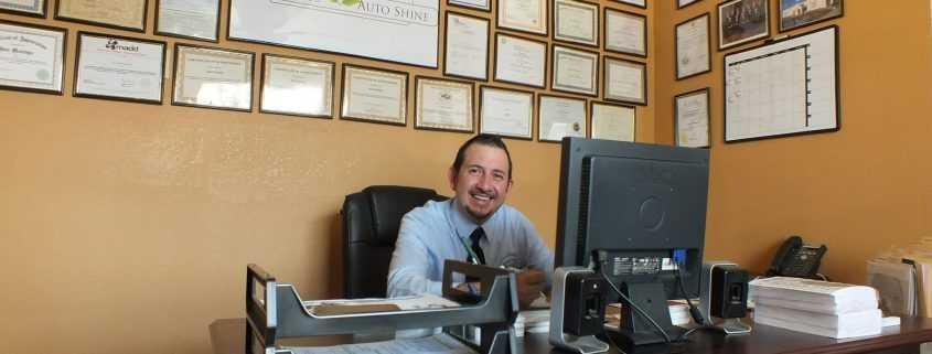 Jose Montoya, former Smart Start Ignition Interlock client, in his office