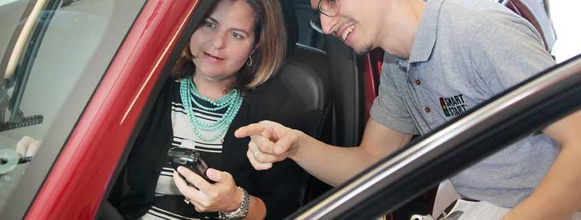 Smart Start Technician Training Client on 2030 Interlock Device