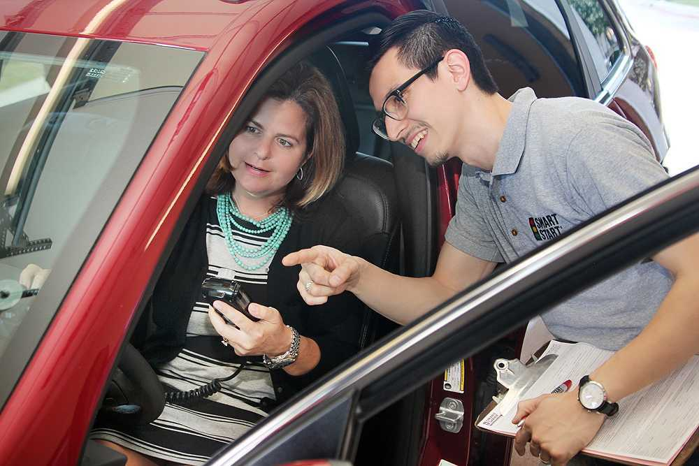 Smart Start Technician Training Customer To Use The Ignition Interlock Device