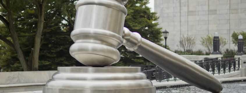 Gavel statue for court
