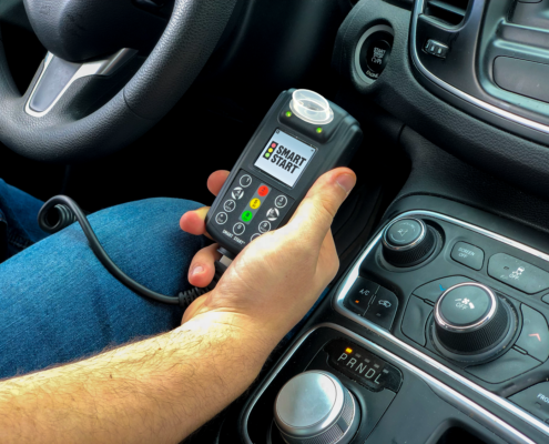 Holding Smart Start Ignition Interlock Device in Vehicle