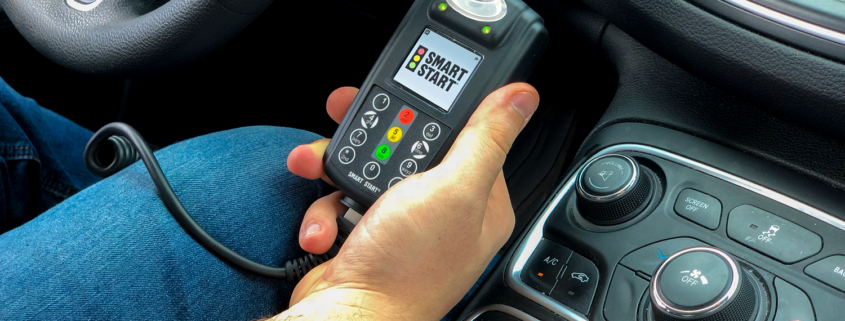 Holding Smart Start Ignition Interlock Device in Vehicle