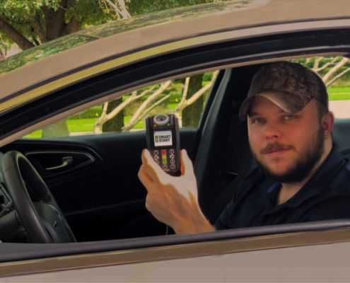 Smart Start Ignition Interlock Client Starting Vehicle