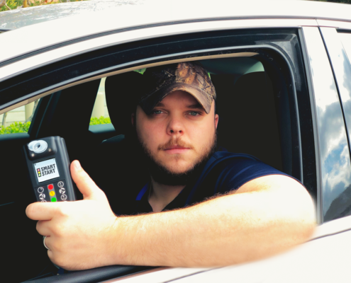 Smart Start Ignition Interlock Client in Vehicle