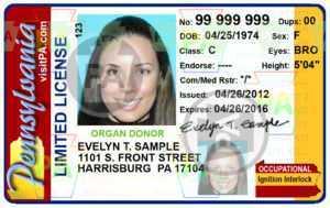 Ignition Interlock Driver's License