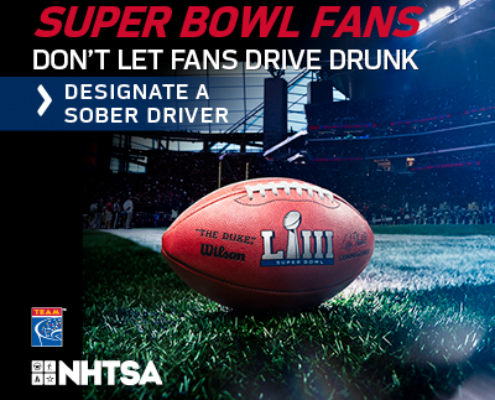 NHTSA Super Bowl Campaign Banner