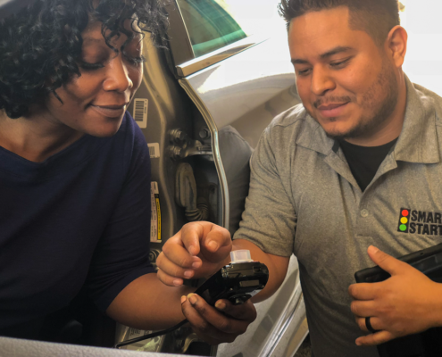 Smart Start Technician Helping Ignition Interlock Client