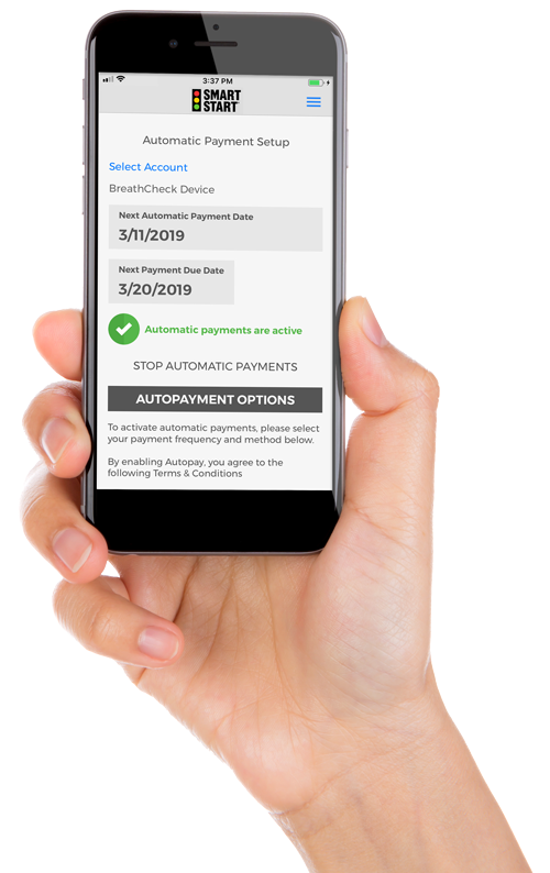 Smart Start Client Portal on Smartphone