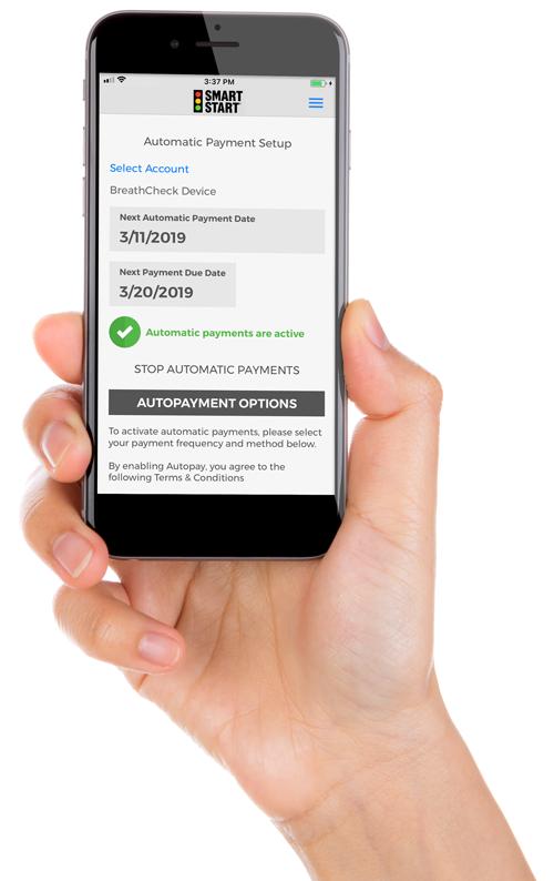 Smart Start Client Portal on Smartphone