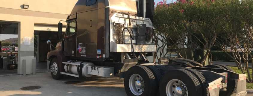 18-wheeler truck waiting for Smart Start ignition interlock