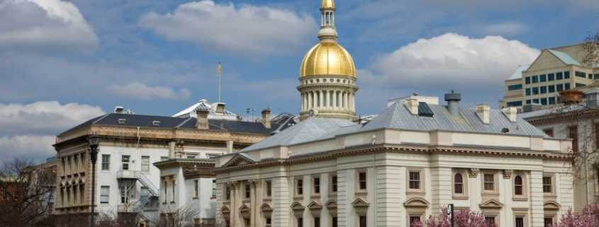 New laws from New Jersey legislative building