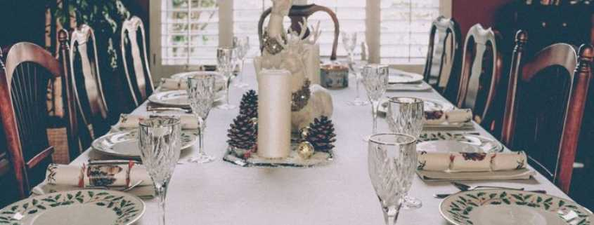 Dinner table during the holiday season