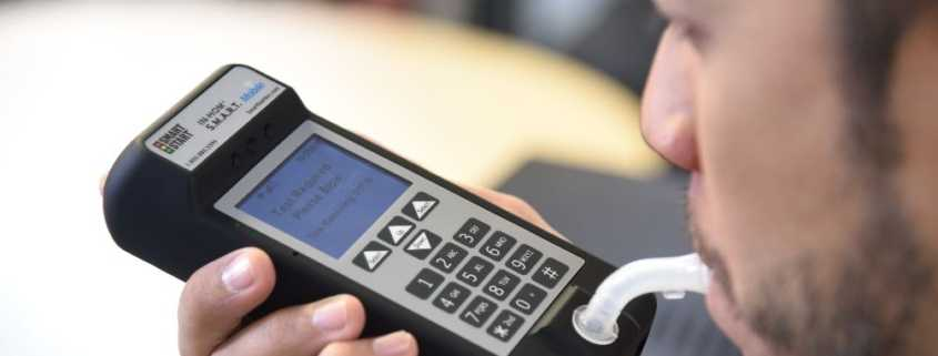Client uses SmartMobile for alcohol breath test